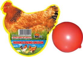 Novelties - Chicken Blowing Balloon - $1.50 each