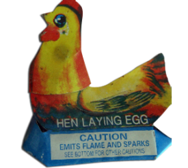 Novelties - Hen Laying Eggs - 0.50