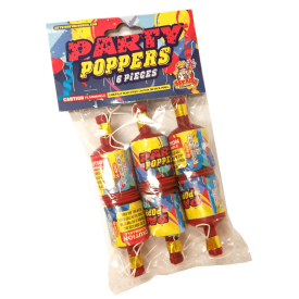 Novelties - Party Poppers 6pk - $1.75